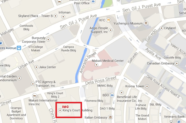 Location Map for King's Court 1 Bldg